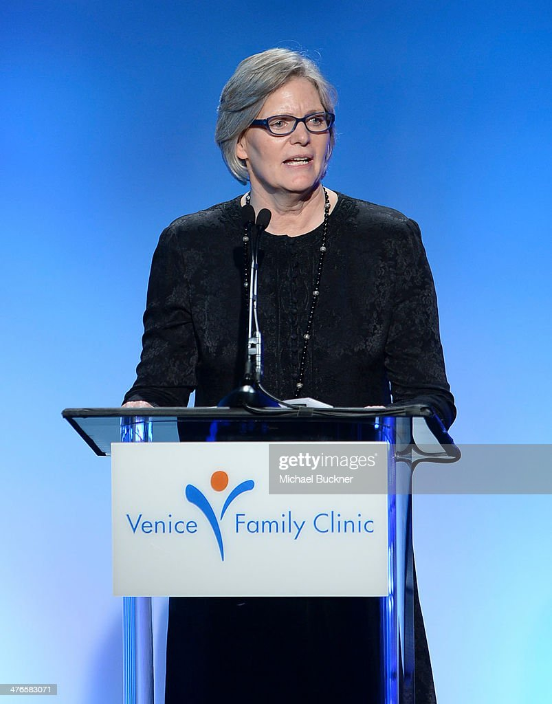 CEO of Venice Family Clinic Elizabeth Benson Forer speaks at the Venice Family Clinic's 32nd Annual Silver Circle Gala at The Beverly Hilton Hotel on March 3, 2014 in Beverly Hills, California.