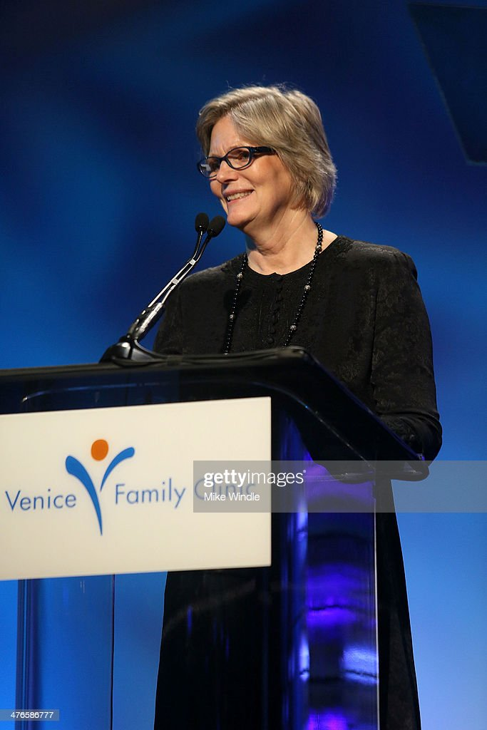 CEO of Venice Family Clinic Elizabeth Benson Forer speaks onstage at the Venice Family Clinic's 32nd Annual Silver Circle Gala held at The Beverly Hilton Hotel on March 3, 2014 in Beverly Hills, California.