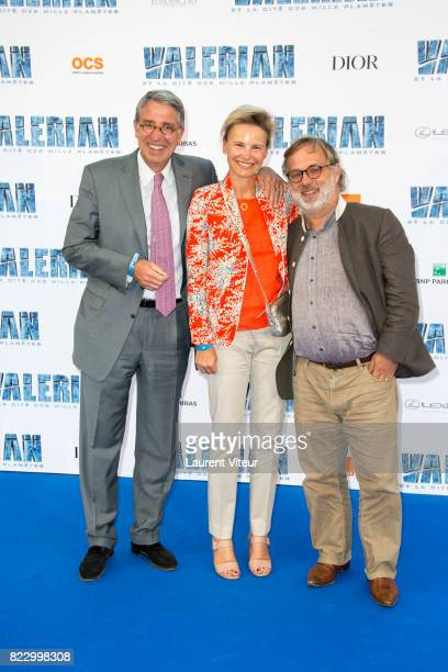 PDG of Vivendi Arnaud de Puyfontaine and guest attend 'Valerian et la Cite desMille Planetes' Paris Premiere at La Cite Du Cinema on July 25 2017 in...