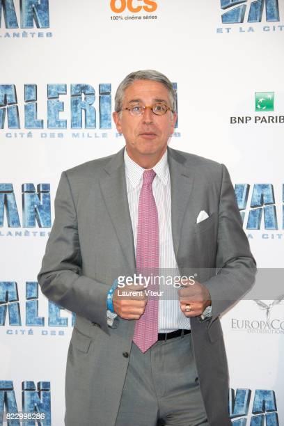PDG of Vivendi Arnaud de Puyfontaine attends 'Valerian et la Cite desMille Planetes' Paris Premiere at La Cite Du Cinema on July 25 2017 in...