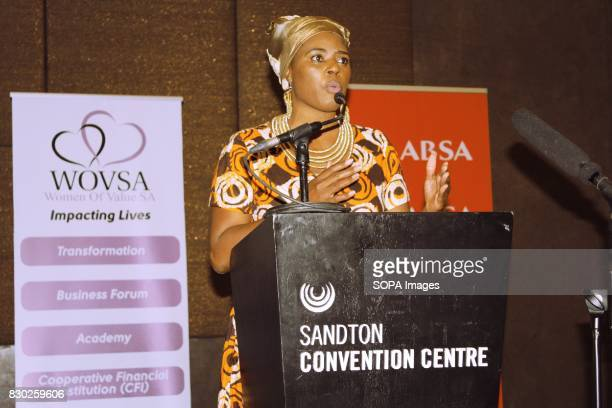 CEO of WOVSA Dr Dimakatso Malwela at the Annual 2nd International Women Entrepreneur Indaba The event was organised by Women of Value South Africa...