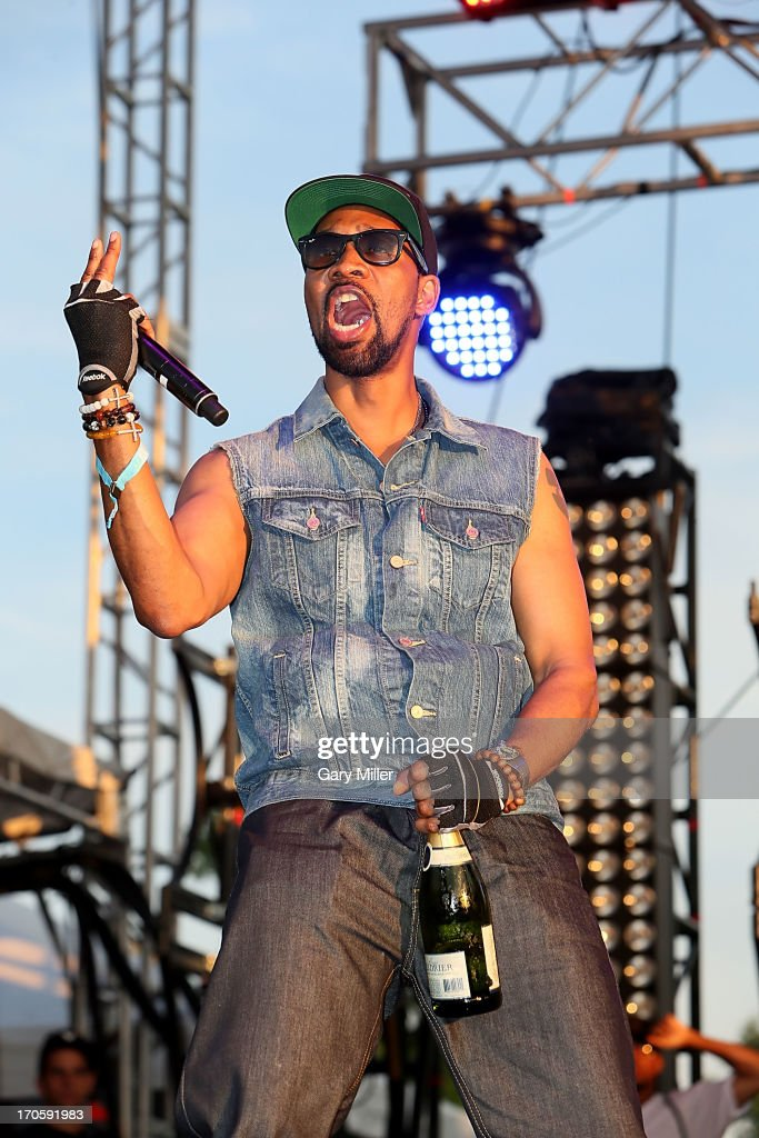 RZA of WuTang Clan performs during the 2013 Bonnaroo Music Arts Festival on June 14 2013 in Manchester Tennessee