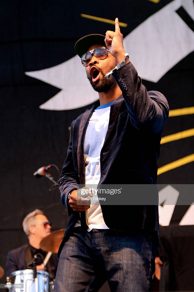 RZA of WuTang Clan performs on stage during the 2015 Riot Fest at Downsview Park on September 20 2015 in Toronto Canada