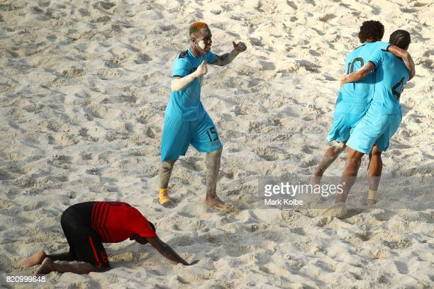 XXXX of XXX competes in the XXXX on day # of the 2017 Youth Commonwealth Games at QE Sports Centre on July 22 2017 in Nassau Bahamas