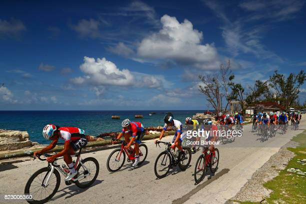 XXXX of XXX competes in the XXXX on day # of the 2017 Youth Commonwealth Games on July 23 2017 in Nassau Bahamas