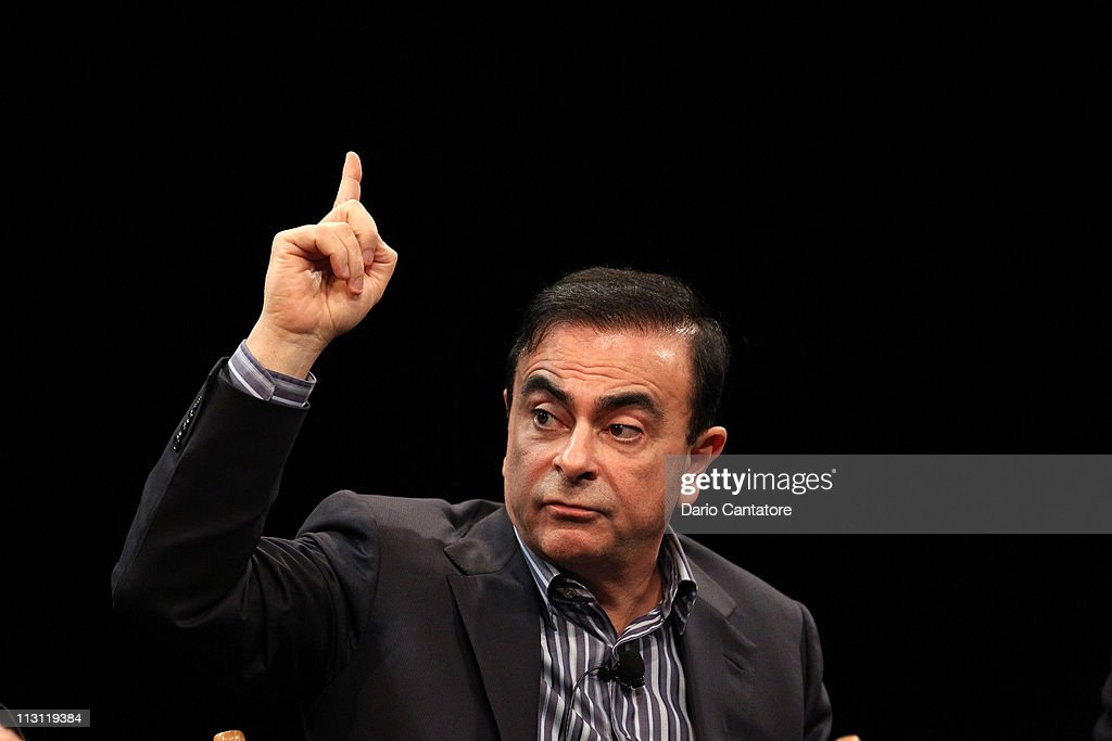 CEO of Yokohama, <a gi-track='captionPersonalityLinkClicked' href=/galleries/search?phrase=Carlos+Ghosn&family=editorial&specificpeople=215025 ng-click='$event.stopPropagation()'>Carlos Ghosn</a> attends Tribeca Talks After The Movie: 'Revenge of the Electric Car' during the 2011 Tribeca Film Festival at the SVA Theater on April 23, 2011 in New York City.