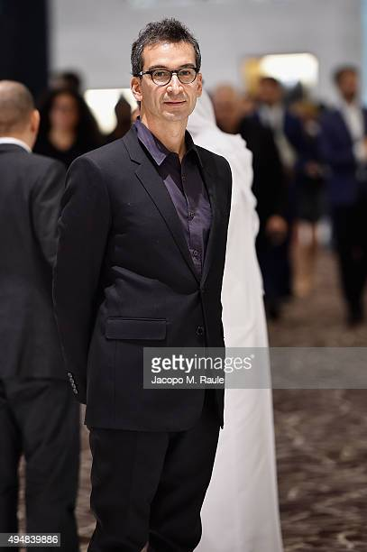 CEO of YOOX Group Federico Marchetti poses during the VIP Mall Tour at the Vogue Fashion Dubai Experience 2015 at The Dubai Mall on October 29 2015...