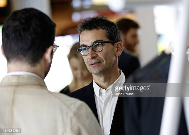 CEO of YOOX Group Federico Marchetti visits the Designer Showcase during the Vogue Fashion Dubai Experience 2015 at The Dubai Mall on October 30 2015...