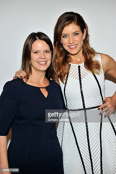 SVP of Young and Women Investors Kristen Robinson and actress Kate Walsh attend Vanity Fair and Fidelity Empowering Conversations at Milk Studios on...