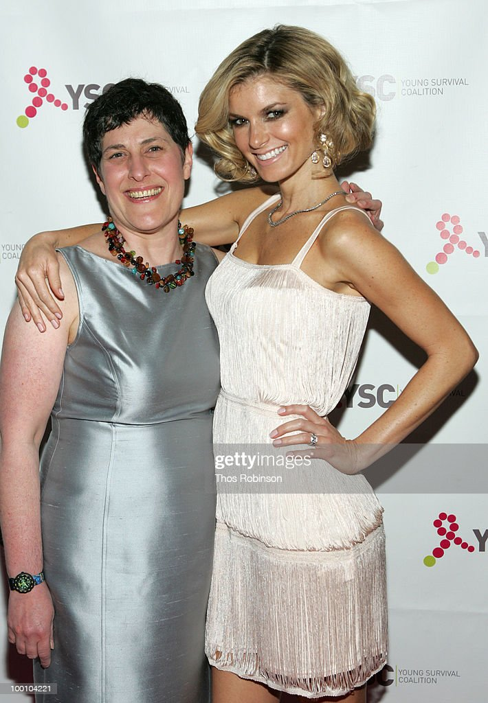 CEO of Young Survival Coalition, Marcia Stein and supermodel Marisa Miller attend Young Survival Coalition Hosts 'In Living Pink' Benefit at Crimson on May 20, 2010 in New York City.