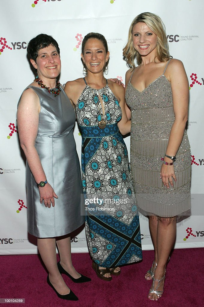 CEO of Young Survival Coalition, Marcia Stein, NBC reporter Cat Greenleaf, and News 12 reporter Erica Zaky attend Young Survival Coalition Hosts 'In Living Pink' Benefit at Crimson on May 20, 2010 in New York City.