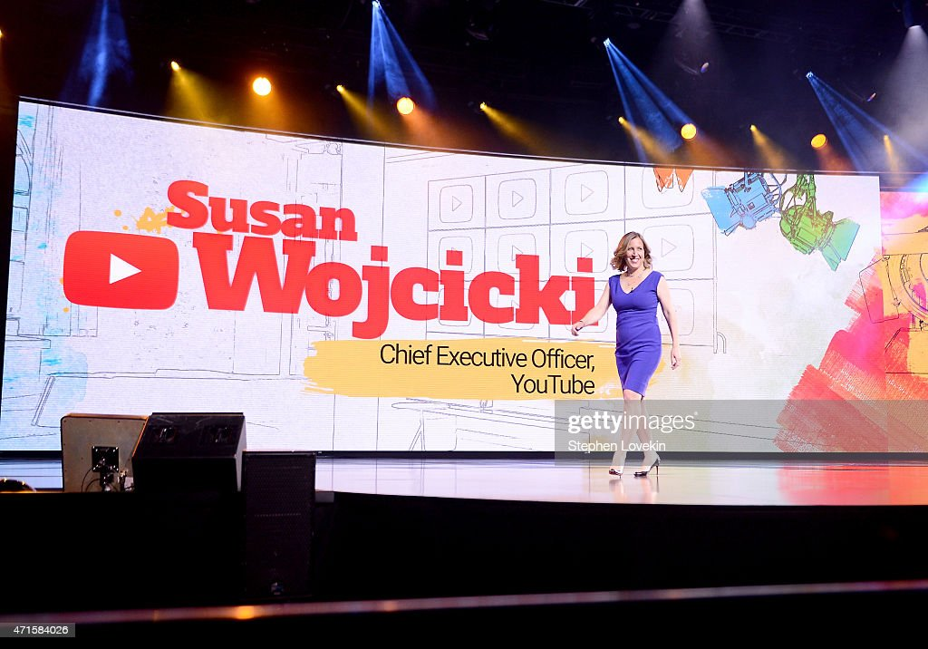 CEO of Youtube Susan Wojcicki speaks at YouTube #Brandcast presented by Google at The Theater at Madison Square Garden on April 29 2015 in New York...