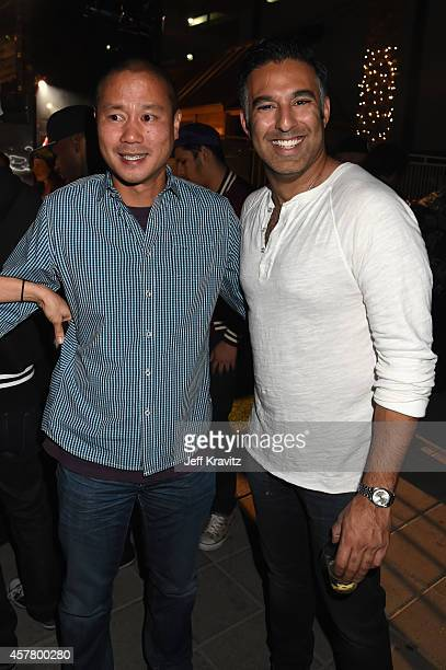 CEO of Zappos Tony Hsieh and Founder of Life Is Beautiful Rehan Choudhry attend the preparty for the 2014 Life is Beautiful festival on October 23...