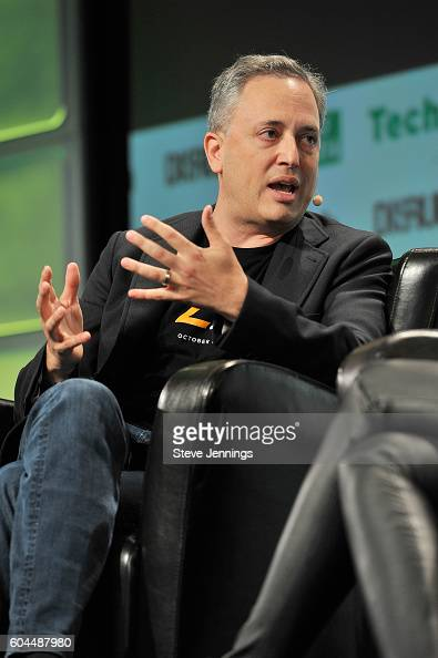 CEO of Zenefits David Sacks speaks onstage during TechCrunch Disrupt SF 2016 at Pier 48 on September 13 2016 in San Francisco California