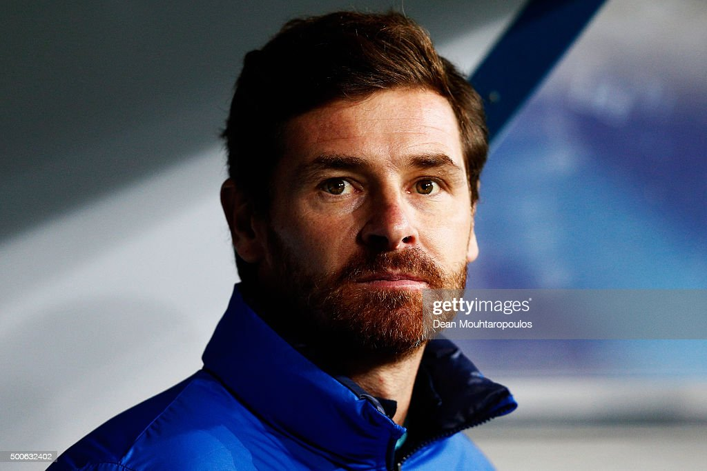 of Zenit Saint Petersburg Head Coach / Manager, Andre Villas-Boas looks on during the group H UEFA Champions League match between KAA Gent and Football Club Zenit Saint Petersburg held at Ghelamco Arena, on December 9, 2015 in Gent, Belgium.