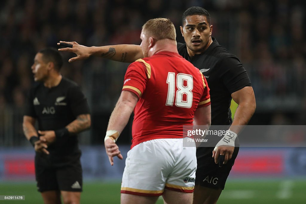 Ofa Tu'ungafasi of the All Blacks during the International Test match between the New Zealand All Blacks and Wales at Forsyth Barr Stadium on June 25, 2016 in Dunedin, New Zealand.