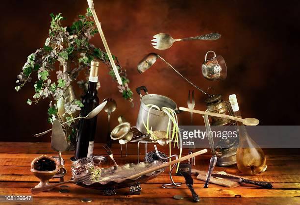 Off Balance, Levitating Kitchen Pots and Utensils