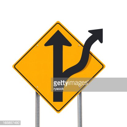 Off Road Alternative Concept Traffic Sign Post Isolated