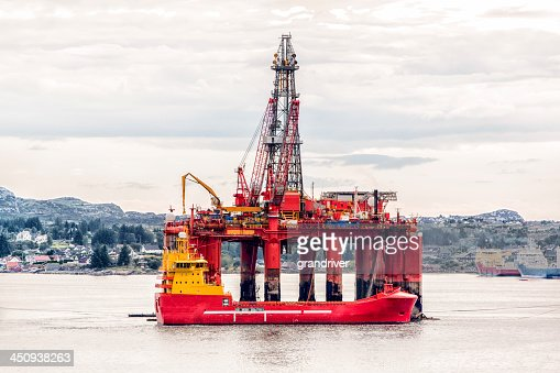 Off Shore Oil Fracking Rig