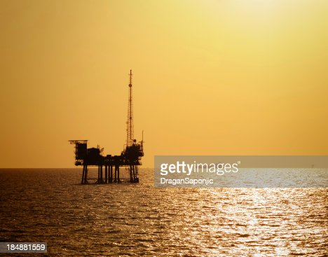 Off shore drilling oil platform