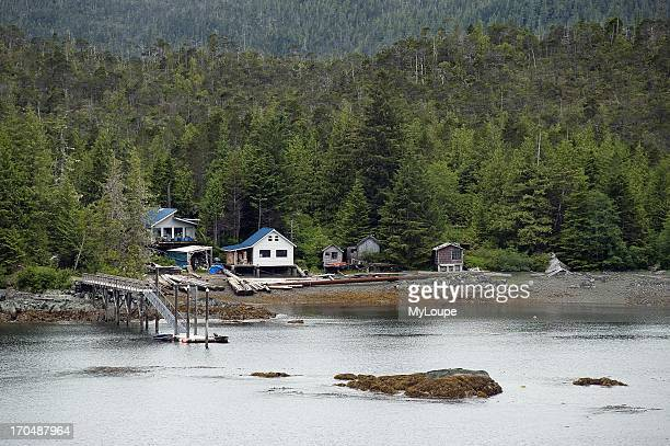 Off the grid cabin on Gravina Island Alexander Archipelago Alaska United States