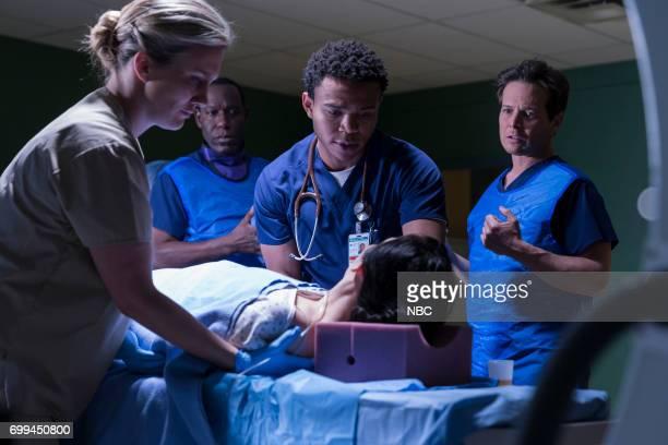 SHIFT 'Off The Rails' Episode 402 Pictured Esodie Geiger as Nurse Mollie James McDaniel as Julian Cummings Robert Bailey Jr as Paul Cummings Kelli...