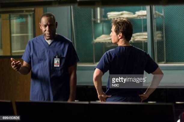 SHIFT 'Off The Rails' Episode 402 Pictured James McDaniel as Julian Cummings Scott Wolf as Scott Clemmens