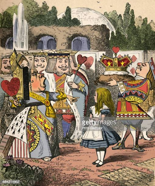 Off with her head Alice and the Red Queen 1889 Lewis Carrolls Alice in Wonderland as illustrated by John Tenniel From Alices Adventures in Wonderland...