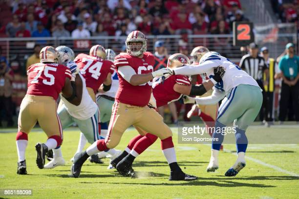 Offensive and Defensive line work during the first half of the regular season game between the Dallas Cowboys and the San Francisco 49ers on October...