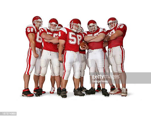 Offensive Line with Clipping Path