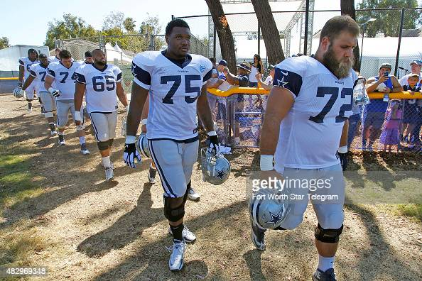 Offensive linemen including tackle Laurence Gibson tackle John Wetzel center Ronald Patrick tackle RJ Dill guard Ronald Leary and center Travis...