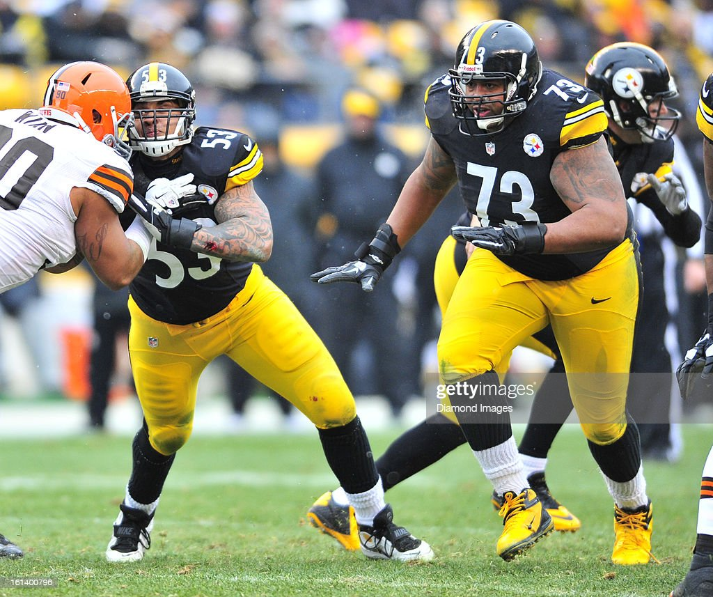 AP All Pro - Brown First Team/DeCastro & Bell Second Team  Offensive-linemen-ramon-foster-of-the-pittsburgh-steelers-looks-for-picture-id161400796