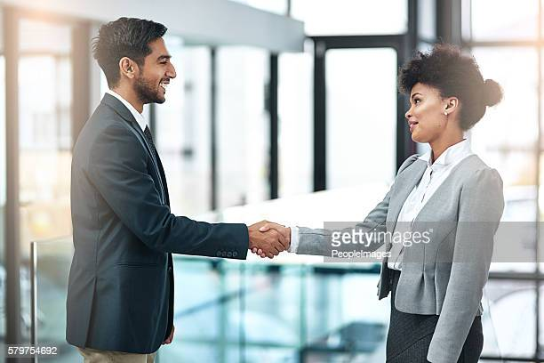 Offering a handshake with sincerity, confidence and authority