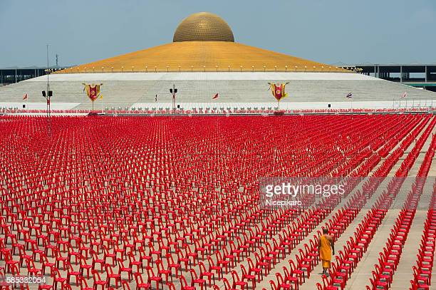' Offering ceremony to 100,000 Buddhst monks. '