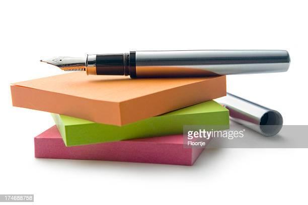 オフィス: 接着剤ノートやペン