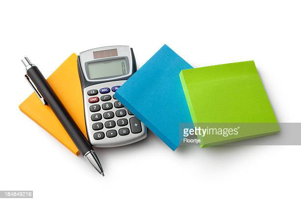 Office: Adhesive Notes, Calculator and Pen