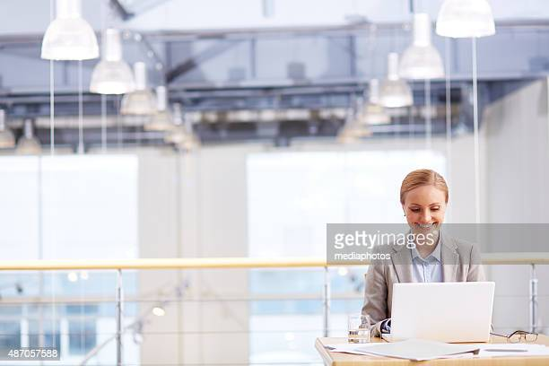 Office administrator at work