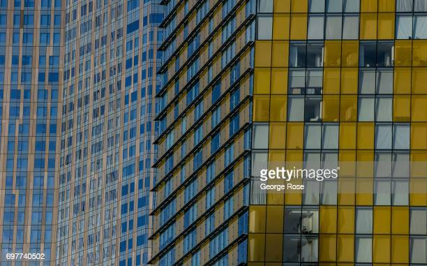 Office and condominium buildings at The Crystals luxury shopping mall in the CityCenter complex are viewed on May 31 2017 in Las Vegas Nevada Tourism...