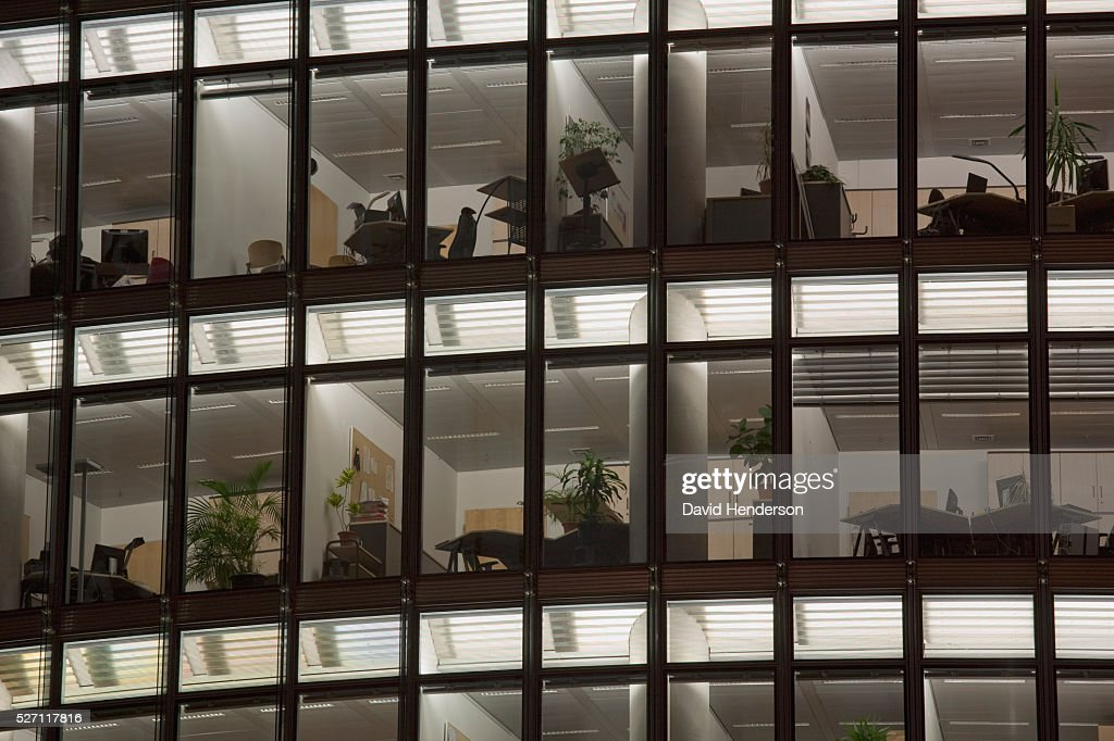 Office at night : Foto de stock