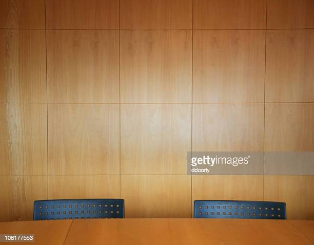 Office Boardroom with Two Chairs and Table