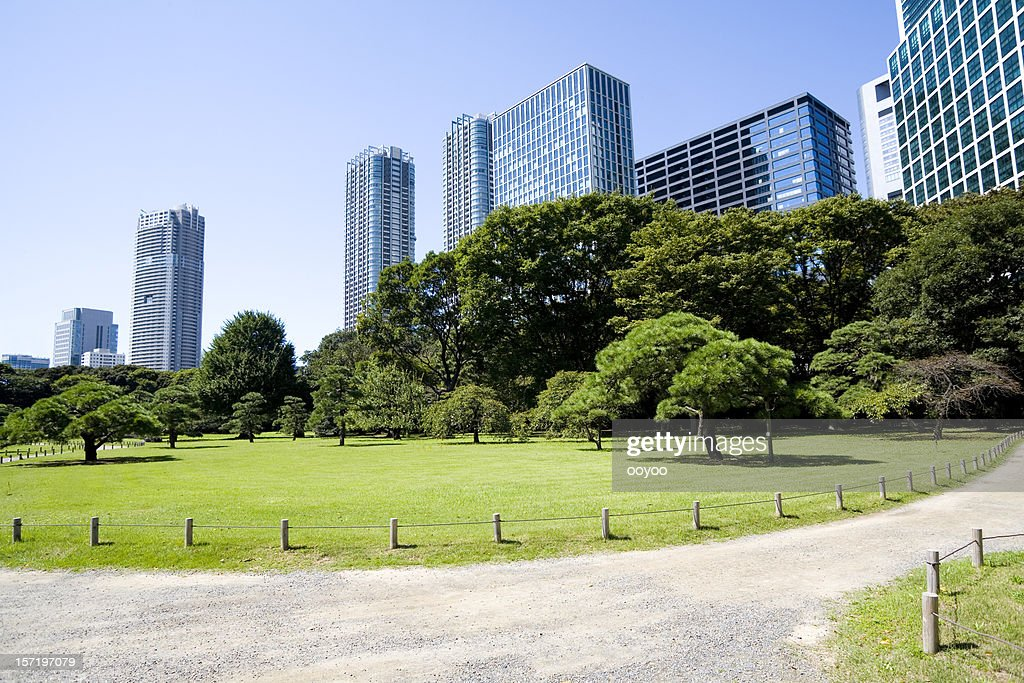 Office building and Japanese garden