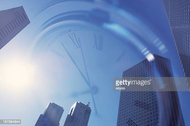 Office Building & Clock