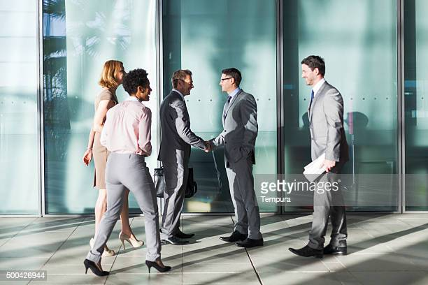 Office building group of businessman.