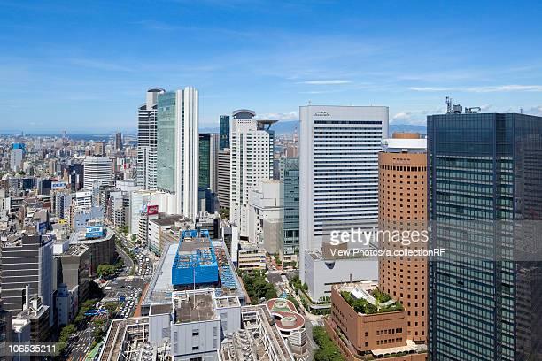 Office building in Umeda, Osaka City, Osaka Prefecture, Honshu, Japan