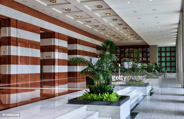 Office building lobby in the financial district in downtown Toronto Ontario Canada