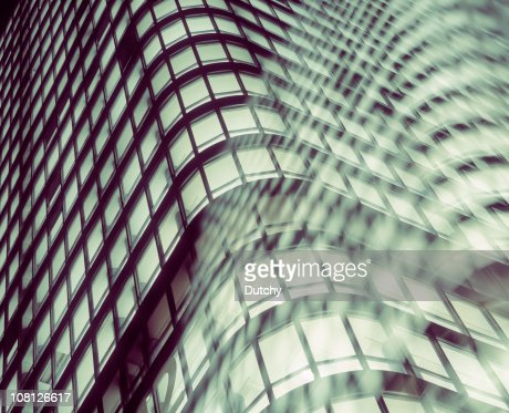 Office Building with Windows at Night : Stock Photo