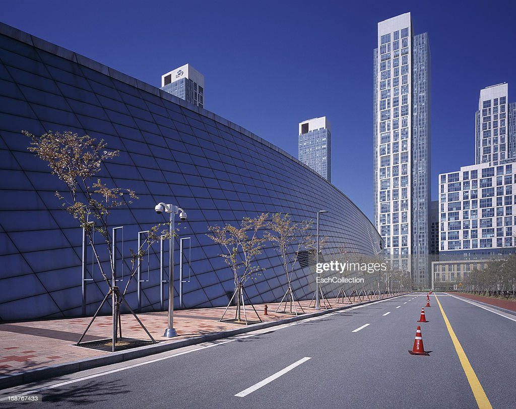 Office buildings and convention Center at Songdo : Stock Photo