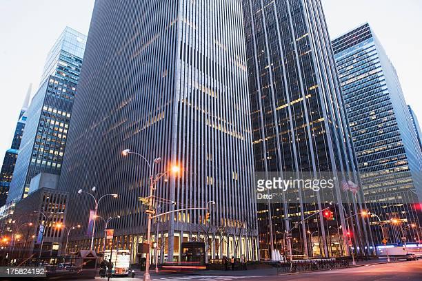Office buildings at dusk, New York City, USA