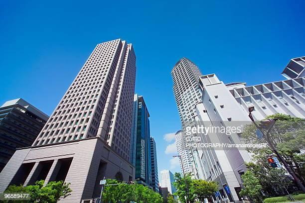 Office buildings at West Umeda, Osaka Prefecture, Honshu, Japan