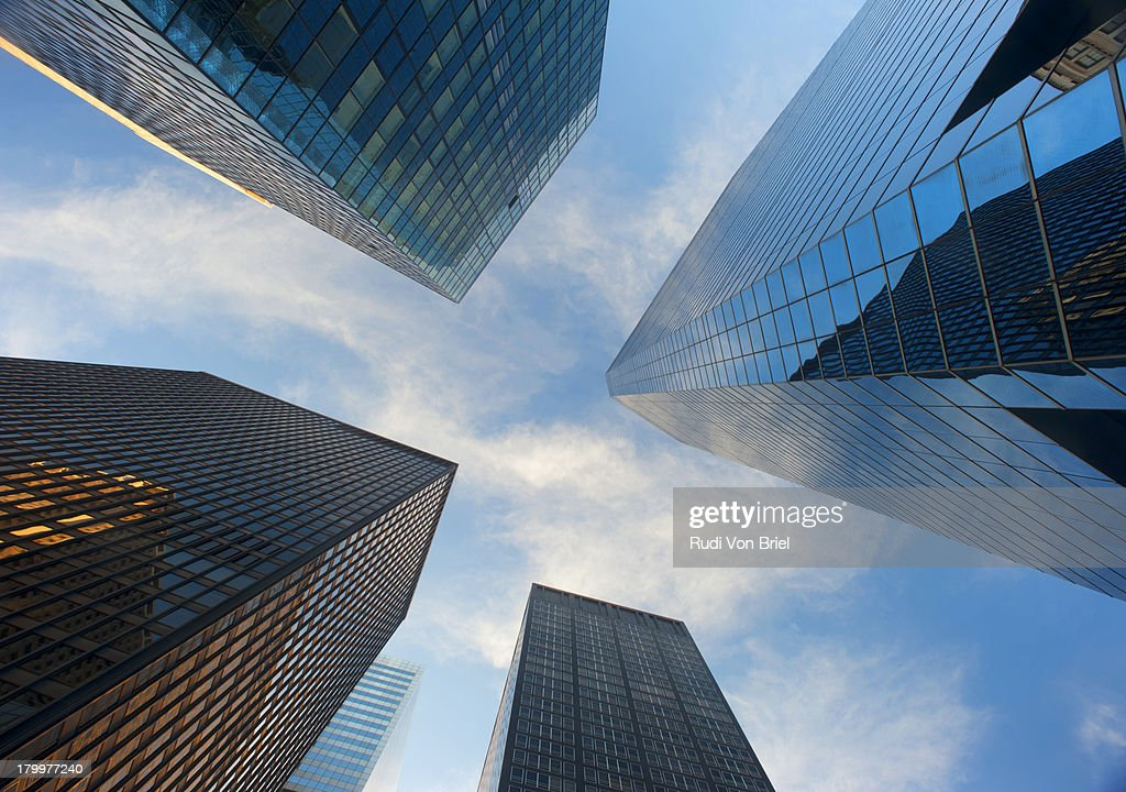 Office buildings, high-rise buildings. : Stock Photo